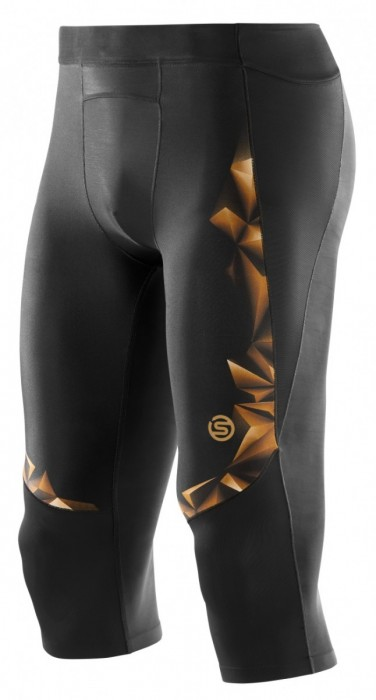Skins A400 Mens Gold 3/4 Tights